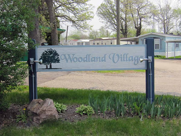 Woodland Village Entrance Sign